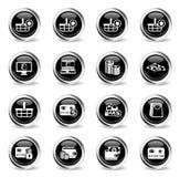 10 för kommers e redigerbar eps för mapp set för symbol fullt vektor illustrationer