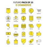 10 för kommers e redigerbar eps för mapp set för symbol fullt Gul packe för Futuro senast designsymbol stock illustrationer