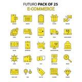 10 för kommers e redigerbar eps för mapp set för symbol fullt Gul packe för Futuro senast designsymbol royaltyfri illustrationer