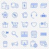 10 för kommers e redigerbar eps för mapp set för symbol fullt 25 vektorsymboler packar royaltyfri illustrationer