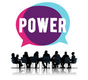För kompetenskompetens för makt potentiellt begrepp för energi royaltyfri bild