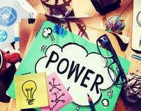 För kompetenskompetens för makt potentiellt begrepp för energi arkivfoton