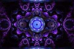 För konstbilden för fractalen kan den matematiska algoritmen frambragda illustrationen illustrera för konstgalaxen för universum  Royaltyfri Foto