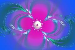 För konstbilden för fractalen kan den matematiska algoritmen frambragda illustrationen illustrera för konstgalaxen för universum  Royaltyfri Bild