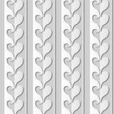 för konstförälskelse för vitbok 3D linje för kors för kurva för hjärta stock illustrationer