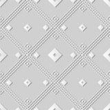 för konstfyrkant för vitbok 3D kontroll Diamond Cross Dot Line Frame Arkivbilder