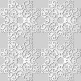 för konstfyrkant för vitbok 3D ram för vapen för kors för kurva royaltyfri illustrationer