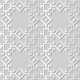 för konstkontroll för vitbok 3D kedja för ram för kors för kurva för fyrkant vektor illustrationer
