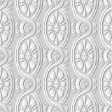 för konstOval för vitbok 3D blomma för arg vinranka för kurva för spiral stock illustrationer