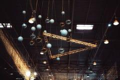 för konstruktionssken för orbs guld- ljus beröm Fotografering för Bildbyråer