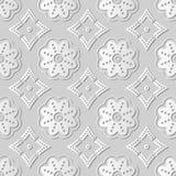 för konstrunda för vitbok 3D kurva Dot Line Flower Frame Royaltyfria Bilder