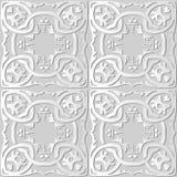 för konstrunda för vitbok 3D ram för kors för kurva för spiral botanisk Chain vektor illustrationer