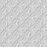 för konstrunda för vitbok 3D ram för kronblad för blomma för kors för kurva vektor illustrationer