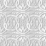 för konstrunda för vitbok 3D ram för vinranka för växt för kors för kurva för spiral royaltyfri illustrationer