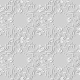 för konstspiral för vitbok 3D prick för blomma för ram för kors för kurva vektor illustrationer