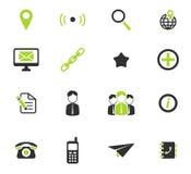 För kontakter symboler enkelt Arkivbilder