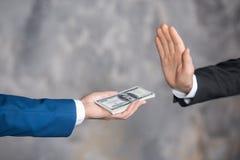 För kontant begrepp för transaktion finanskorruption för pengar olagligt Royaltyfria Foton