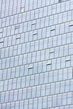 för kontorssilver för byggnad glass vägg Royaltyfria Bilder