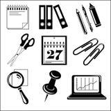 För kontorssymbol för vektor svart uppsättning på vit Arkivbilder