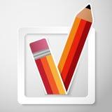 För kontrollask för vektor pappers- bakgrund royaltyfri illustrationer