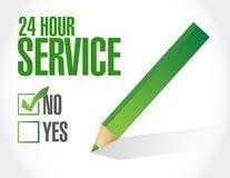 24 för kontrolllista för timme tjänste- illustration Arkivfoton