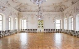 för korridorslott för balsal stor rundale Arkivbilder