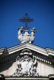 för korshelgedom för bakgrund blå sky Royaltyfria Foton