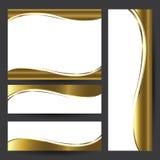 För kortbeståndsdel för mall guld- design Royaltyfria Bilder