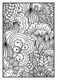 för kortdesign för bakgrund white för affisch för ogange för svart fractal för blomma god Arkivfoto