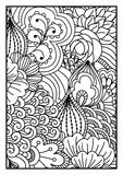 för kortdesign för bakgrund white för affisch för ogange för svart fractal för blomma god Stock Illustrationer