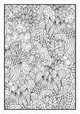 för kortdesign för bakgrund white för affisch för ogange för svart fractal för blomma god Royaltyfri Bild
