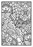 för kortdesign för bakgrund white för affisch för ogange för svart fractal för blomma god Royaltyfria Foton