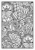för kortdesign för bakgrund white för affisch för ogange för svart fractal för blomma god Arkivbild