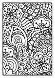 för kortdesign för bakgrund white för affisch för ogange för svart fractal för blomma god Arkivbilder