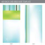 för kortkugge för broschyr 4x9 mall Arkivbild