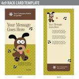 för kortkugge för broschyr 4x9 mall Fotografering för Bildbyråer