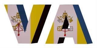 för kortslutningskod för land 3d bokstäver - Vatican City vektor illustrationer