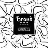 För kosmetiskt förpacka för produkter Stilfull grafisk textur för sömlösa modeller för din design Royaltyfria Bilder