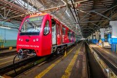 För Krasnaya för bussgarage för tunnelbana för gångtunneldrev inre presnya royaltyfri bild