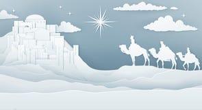 För Kristi födelsejul för kloka män begrepp royaltyfri illustrationer