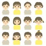 För kroppAvatar för gulliga barn halv samling för vektor vektor illustrationer