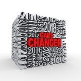 för kublek för år 3d changer Arkivfoton