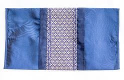 För kuddekudde för thailändsk stil siden- räkning för textur Fotografering för Bildbyråer