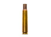 för kulfall för 50 kaliber ammo för den militära prickskytten Rifle Arkivbild