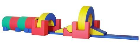 för kurslek för stora barn komplicerat hinder s Arkivfoton