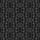 För kurvspiral för antik sömlös bakgrund kal orientaliskt ovalt kors Royaltyfri Fotografi
