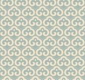 För kurvspiral för antik sömlös bakgrund orientalisk ram ch för kors Arkivfoto