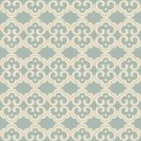 För kurvspiral för antik sömlös bakgrund orientalisk runda fr för kors Royaltyfri Foto