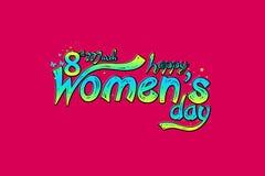 8 för kvinna` s för mars internationell bakgrund för dag Sammansättning för körsbärsröda blomningar för romantisk design Royaltyfri Foto