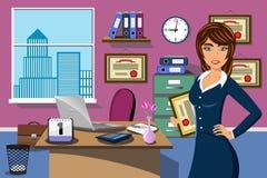 För kvinnakontor för affär lyckad utmärkelse för pris royaltyfri illustrationer